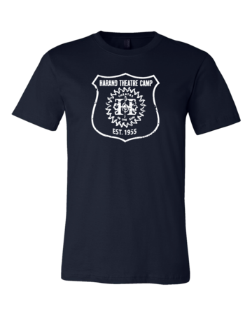 Harand Theatre Camp - Full Chest White Shield Logo Standard Navy Blank with Depth