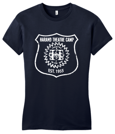 Harand Theatre Camp - Full Chest White Shield Logo Girly Navy Blank with Depth