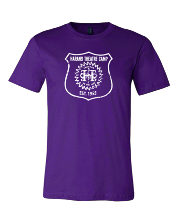 Harand Theatre Camp - Full Chest White Shield Logo Standard Purple Blank with Depth