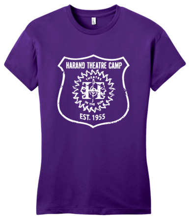 Harand Theatre Camp - Full Chest White Shield Logo Girly Purple Blank with Depth