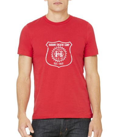 Harand Theatre Camp - Full Chest White Shield Logo Standard Red Stock Model Front 1 Thumb