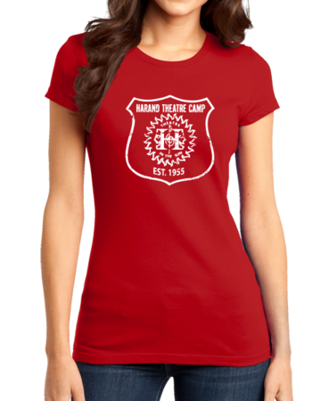 Harand Theatre Camp - Full Chest White Shield Logo Girly Red Stock Model Front 1 Thumb
