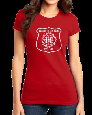 Harand Theatre Camp - Full Chest White Shield Logo T-shirt