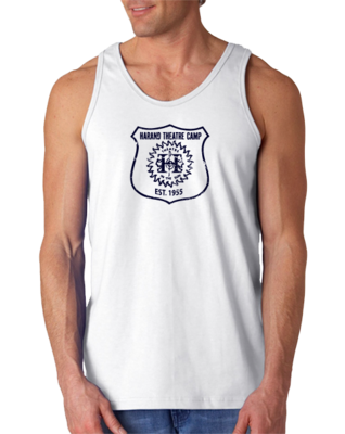 Harand Theatre Camp - Full Chest Navy Shield Logo Tank Top