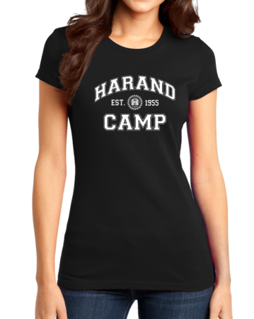 Harand Theatre Camp - Collegiate Style White Print Girly Black Stock Model Front 1 Thumb