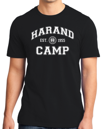 Harand Theatre Camp - Collegiate Style White Print Standard Black Stock Model Front 1 Thumb