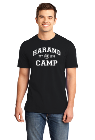 Harand Theatre Camp - Collegiate Style White Print Standard Black Stock Model Front 1