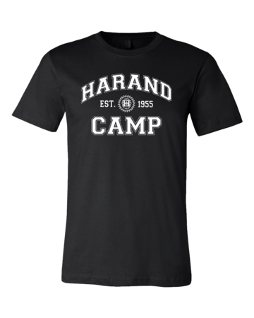 Harand Theatre Camp - Collegiate Style White Print Standard Black Blank with Depth