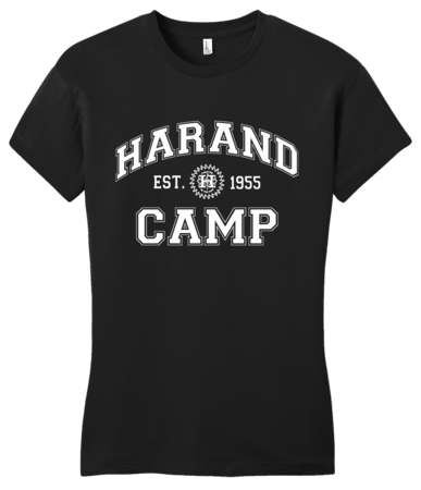Harand Theatre Camp - Collegiate Style White Print Girly Black Blank with Depth