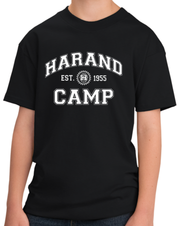 Harand Theatre Camp - Collegiate Style White Print Youth Black Stock Model Front 1 Thumb