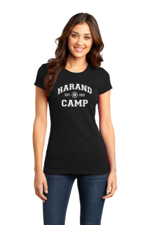 Harand Theatre Camp - Collegiate Style White Print Girly Black Stock Model Front 1
