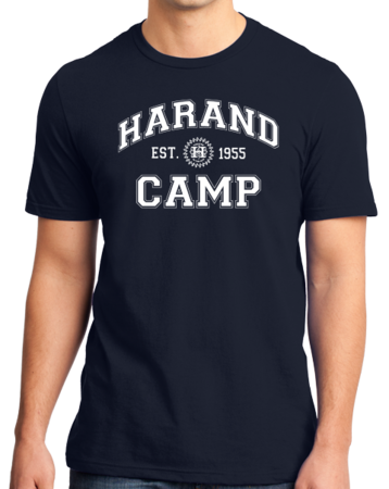 Harand Theatre Camp - Collegiate Style White Print Standard Navy Stock Model Front 1 Thumb