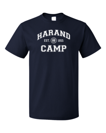 Harand Theatre Camp - Collegiate Style White Print Unisex Navy Blank with Depth