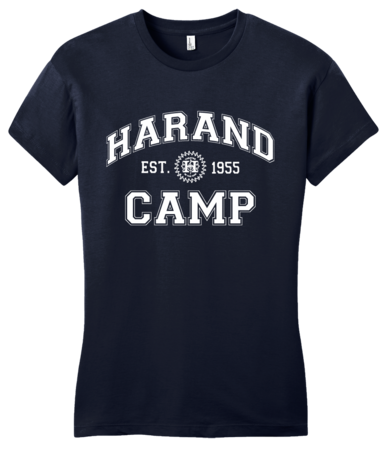 Harand Theatre Camp - Collegiate Style White Print Girly Navy Blank with Depth