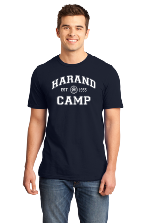 Harand Theatre Camp - Collegiate Style White Print Standard Navy Stock Model Front 1