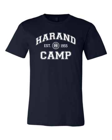 Harand Theatre Camp - Collegiate Style White Print Standard Navy Blank with Depth
