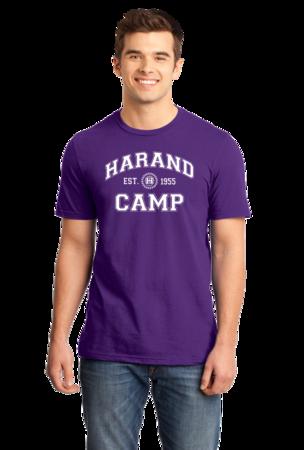 Harand Theatre Camp - Collegiate Style White Print Standard Purple Stock Model Front 1