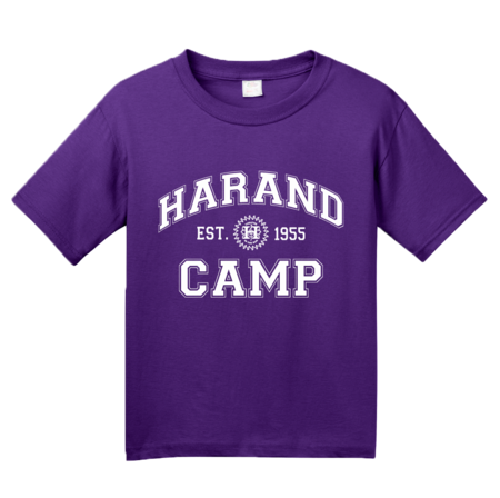 Harand Theatre Camp - Collegiate Style White Print Youth Purple Blank with Depth