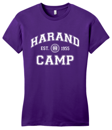 Harand Theatre Camp - Collegiate Style White Print Girly Purple Blank with Depth