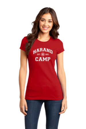 Harand Theatre Camp - Collegiate Style White Print Girly Red Stock Model Front 1