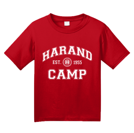 Harand Theatre Camp - Collegiate Style White Print Youth Red Blank with Depth