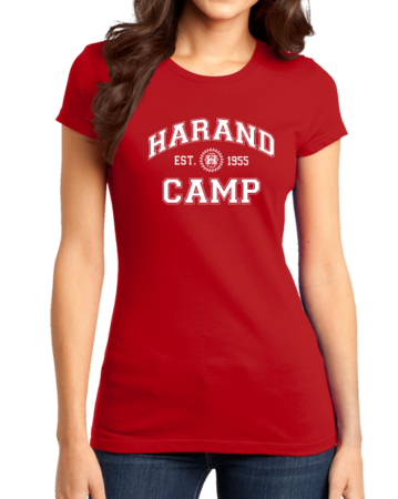 Harand Theatre Camp - Collegiate Style White Print Girly Red Stock Model Front 1 Thumb