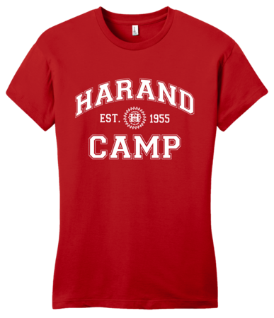 Harand Theatre Camp - Collegiate Style White Print Girly Red Blank with Depth