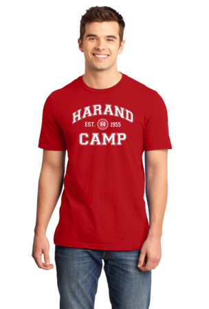 Harand Theatre Camp - Collegiate Style White Print Standard Red Stock Model Front 1