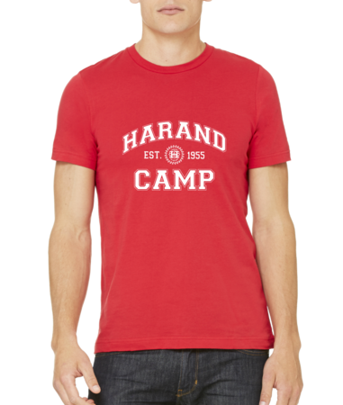 Harand Theatre Camp - Collegiate Style White Print Standard Red Stock Model Front 1 Thumb