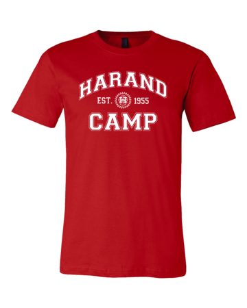 Harand Theatre Camp - Collegiate Style White Print Standard Red Blank with Depth