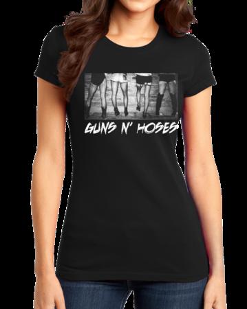 Guns N' Hoses Girly Black Stock Model Front 1 Thumb