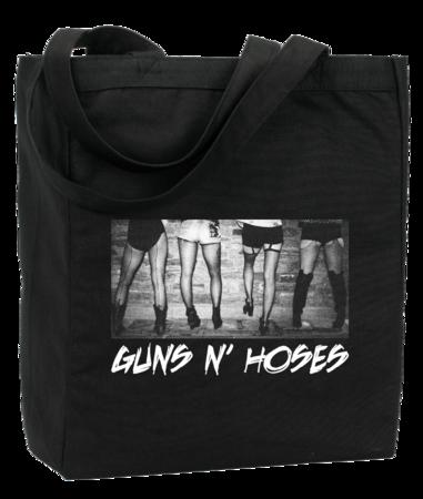 Guns N' Hoses Tote Black Blank with Depth