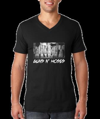 Guns N' Hoses V-neck T-shirt