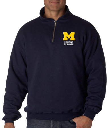 Lighting Designer Quarter Zip Navy Stock Model Front 1 Thumb