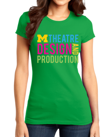 D&P Stacked Design Girly Green Stock Model Front 1 Thumb