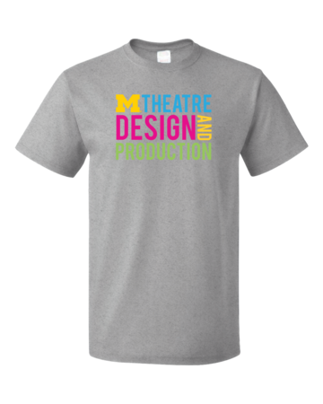 D&P Stacked Design Unisex Grey Blank with Depth