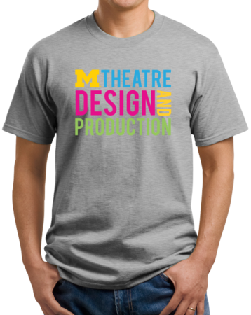 D&P Stacked Design Unisex Grey Stock Model Front 1 Thumb