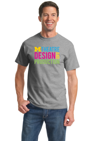 D&P Stacked Design Unisex Grey Stock Model Front 2