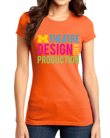D&P Stacked Design Girly Orange Stock Model Front 1 Thumb