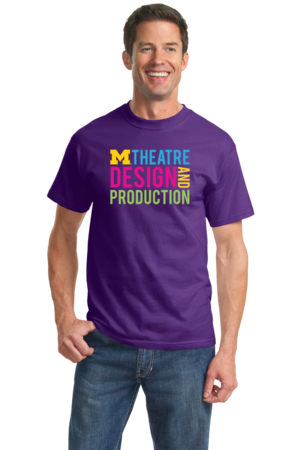 D&P Stacked Design Unisex Purple Stock Model Front 2