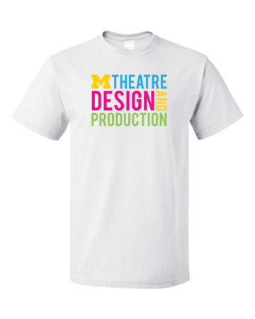 D&P Stacked Design Unisex White Blank with Depth