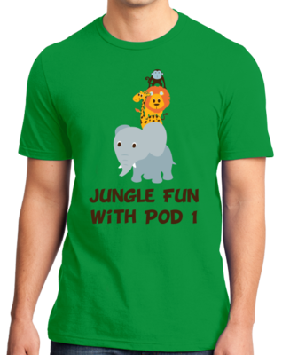 DMUM Pod 1 Jungle Fun T shirt T-shirt