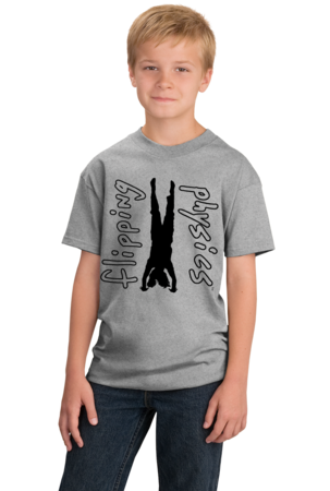 Light Handstand Tees Youth Grey Stock Model Front 1