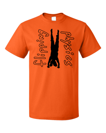 Light Handstand Tees Unisex Orange Blank with Depth