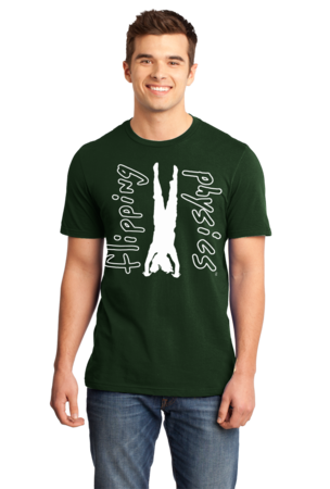 Dark Handstand Tees Unisex Forest Green Stock Model Front 3