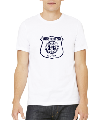 Harand Theatre Camp - Full Chest Navy Shield Logo T-shirt
