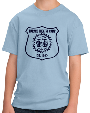 Harand Theatre Camp - Full Chest Navy Shield Logo Youth Light blue Stock Model Front 1 Thumb