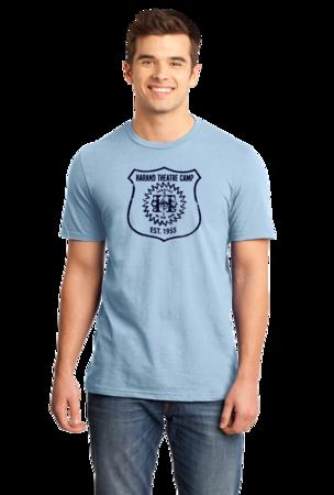 Harand Theatre Camp - Full Chest Navy Shield Logo Standard Light blue Stock Model Front 1