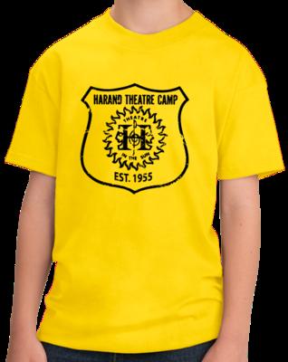 Harand Theatre Camp - Full Chest Navy Shield Logo T-shirt