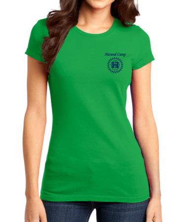 Harand Theatre Camp - Sun Logo Left Chest Royal Print Girly Green Stock Model Front 1 Thumb